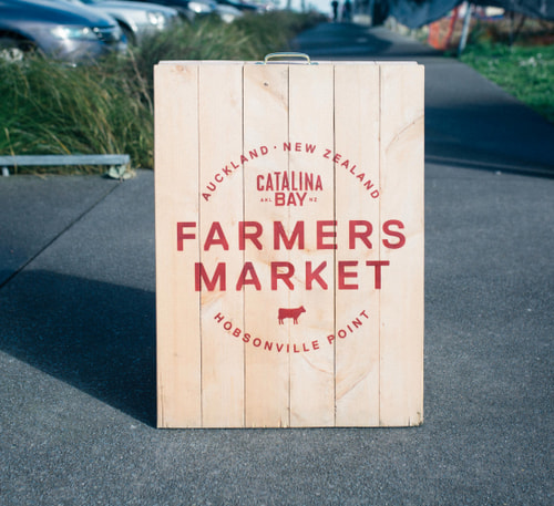 Farmer Market box wood sign